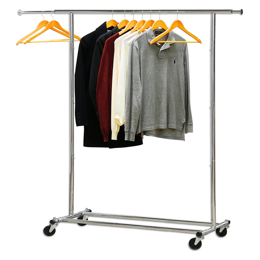 Simple Houseware Heavy Duty Chrome Clothes Rack