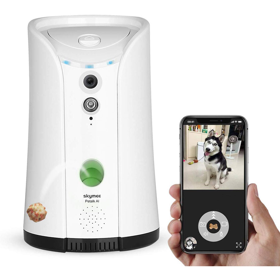 Skymee 2-Way Audio Treat Dispenser Dog Camera