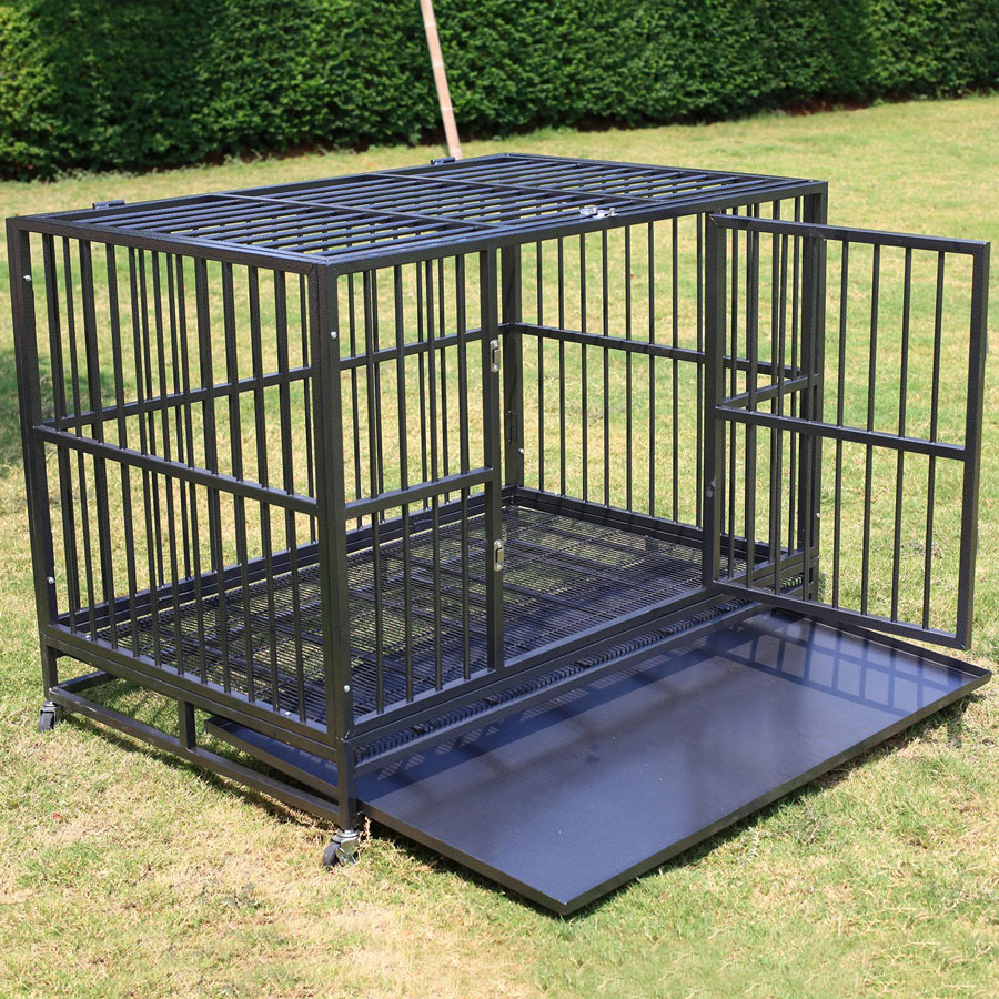 Sliverylake Kennel Heavy-Duty Double Door Dog Crate