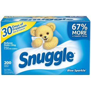 Snuggle Blue Sparkle Dryer Sheets Fabric Softener