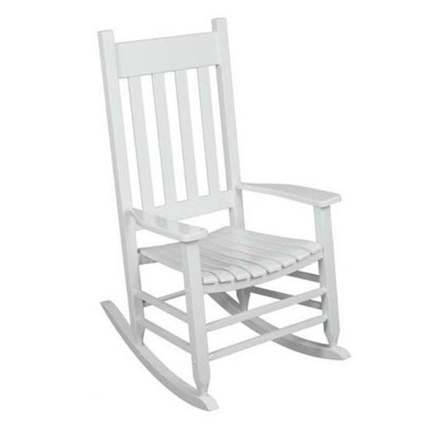 Solid Hardwood Outdoor White Porch Rocking Chair