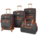 Steve Madden 4-Piece Spinner Softshell Luggage Set