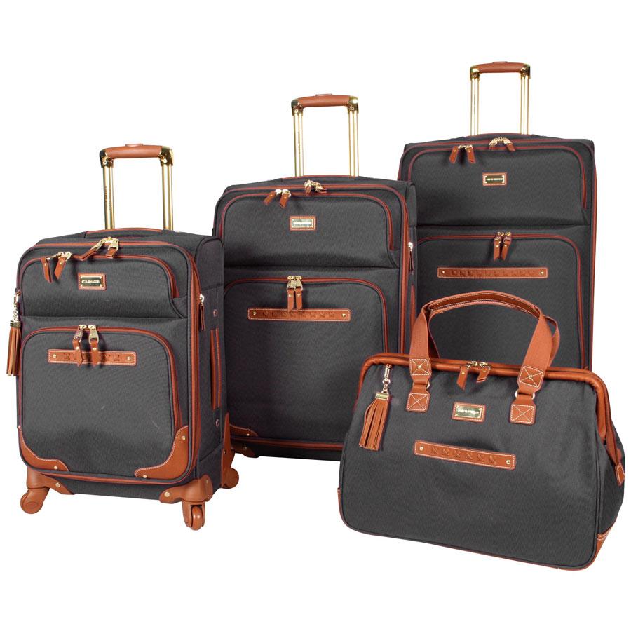 Steve Madden 4-Piece Spinner Softshell Luggage Set