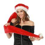 STPark Extra Long Novelty Santa Hat