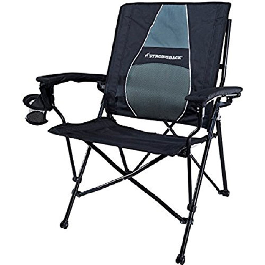 StrongBack Elite Camping Chair With Lumbar Support