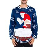 Tipsy Elves Santa Pooping Ugly Christmas Sweater