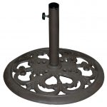 TropiShade 20″ Bronze Cast Iron Umbrella Stand