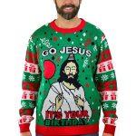 Tstars Go Jesus Birthday Ugly Christmas Sweater