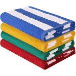 Utopia Towels Premium Stripe 4-Pack Beach Towel