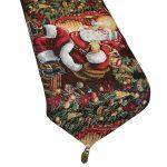 Violet Linen Decorative Tapestry Christmas Table Runner