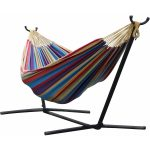 Vivere Tropical Double Hammock With Steel Stand