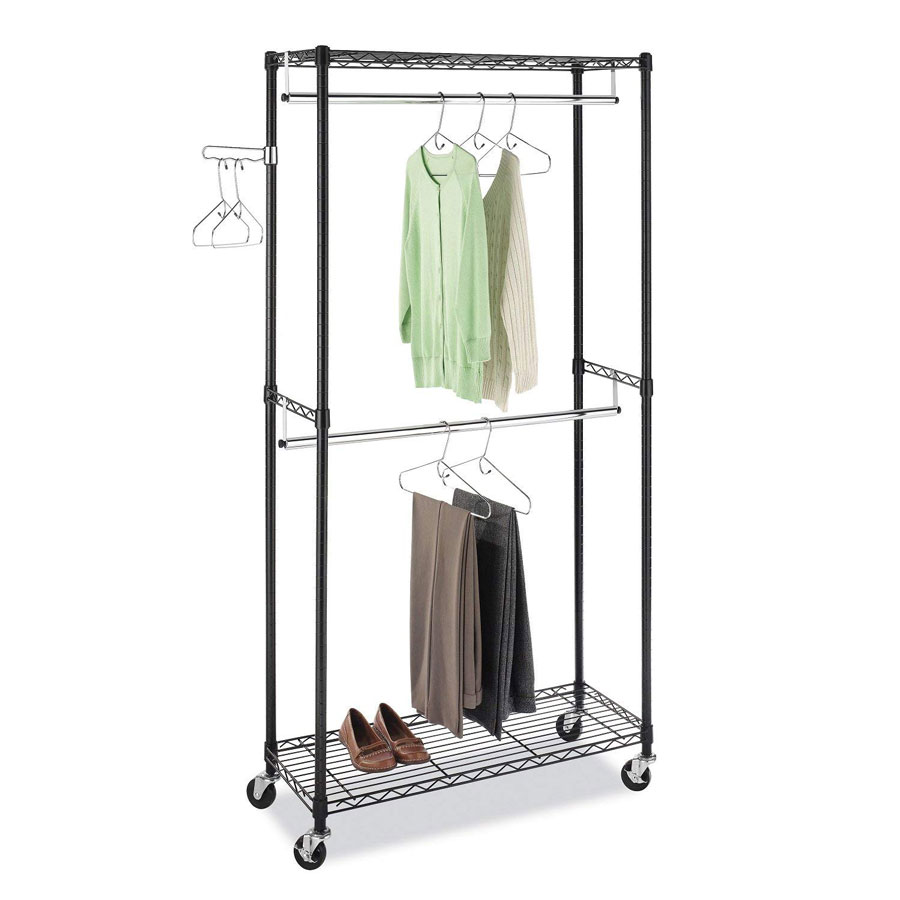 Whitmor Supreme Quality Double Rod Clothes Rack