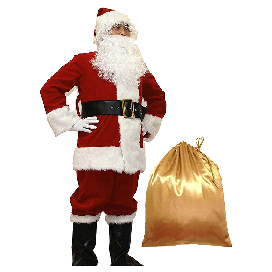 Whobuy Deluxe Adult Santa Suit