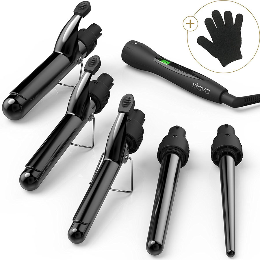 Xtava 5-in-1 Professional Set Ceramic Curling Iron
