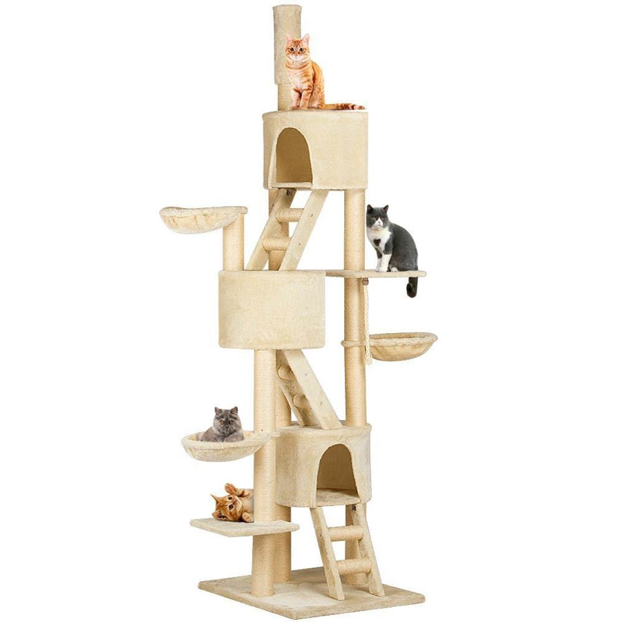 Go Pet Club 106-Inch Adjustable Cat Tree