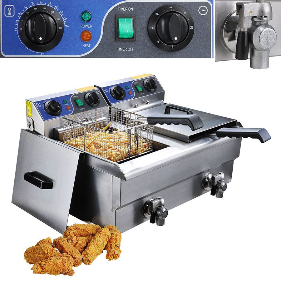Yescom Electric Stainless Steel Commercial Deep Fryer
