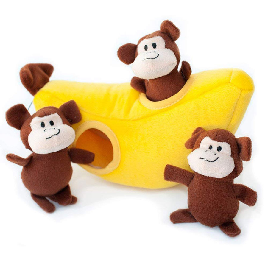 ZippyPaws Zoo Friends Burrow Dog Interactive Toy